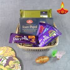 chocolate sonpapdi her with basket uk delivery