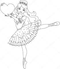 Wand Coloring Pages Ballerina Coloring Page Stock Vector