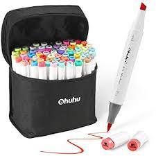 72 Colors Alcohol Markers Ohuhu Brush Chisel Double Tipped Sketch Marker For Kids Artist Alcohol Brush Art Marker Set Bonus 1 Blender For
