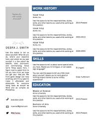Microsoft Resume Templates Free Microsoft Word Resume Template