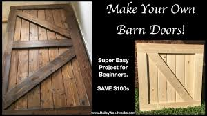 easy to make barn doors how to
