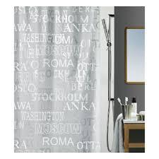 <b>Штора для ванной Spirella</b> PEVA CITIES, серебро, 180*200см ...