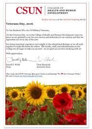 this message was emailed to hhd students who are veterans content embedded in the image above reads as follows