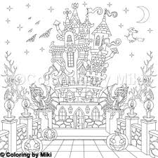 Autumn Halloween Haunted House Coloring Page 1309 Ultimate
