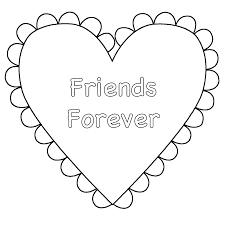 Small Picture Heart Friends Forever Coloring Page Valentines Day