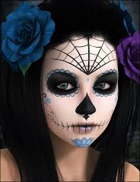 image result for half face catrina makeup
