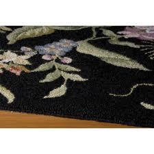 spencer on otley black 2x3 2x3 black chinese hand hook botanical rugs 100 wool fiber