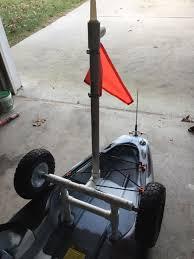 Kayak Flag Light My Diy Kayak Cart With Removable Light And Flag Kayak