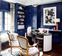 home office dark blue gallery wall. Ikea Besta Blue Home Office Eclectic With Herringbone Pattern Wood Paneling  Window Treatments Dark Gallery Wall