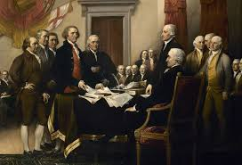 a portion of declaration of independence by john trumbull