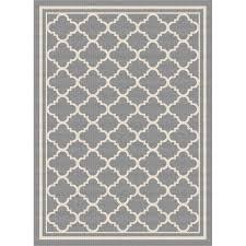 gct1010 5x8 5 x 7 medium gray moroccan tile indoor outdoor rug garden city