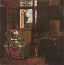 woman reading a letter 1664 PinterestSmall