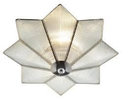 reeded glass flush ceiling light