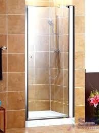 semi frameless shower door pivot w o handle shine bathrooms home depot