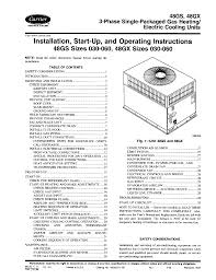 carrier operating instructions