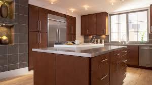 modern cherry kitchen cabinets. Photo: Lausanne Cherry Spice Kitchen Modern Cabinets M