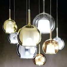 bubble pendant light glass shade flow crystal 1