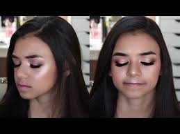 full glam prom makeup tutorial maquillaje para adolescentes huda beauty rose gold palette