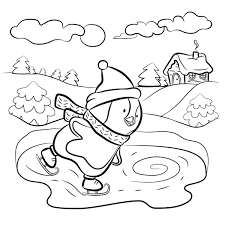 Winter Puzzle Coloring Pages Printable Themed Activity Images Kids