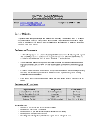 sap mm fresher resume resume ideas