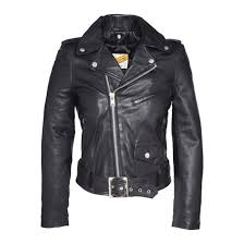 perfecto 8600 leather biker jacket black schott