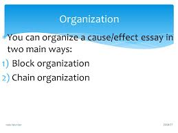 chapter cause effect essays ppt video online 7 organization