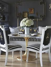 striped dining room