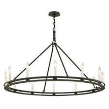 sutton 12 light textured black 44 in d chandelier