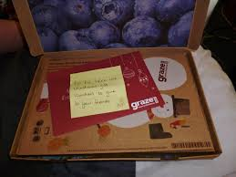 when i opened my 2nd graze box i found it full of lovely extras in the box i had 2 gift vouchers for 2 free bo to give to friends