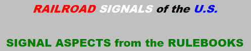 Norac Signal Chart Railroad Signal Aspects From The Rulebooks