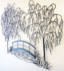 metal decor sculpture weeping saveenlarge weeping willow  on metal wall art trees willow with weeping willow wall art elitflat