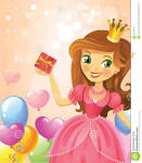 Открытка принцессе с днем рождения