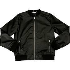 b collection boys biker jacket black