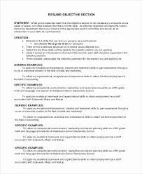 Generic Objective For Resume Generic Resume Template Luxury Gallery Of Federal and California 75