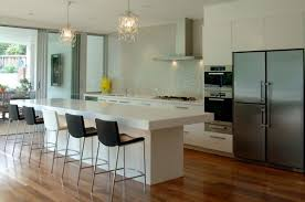 Kitchen Ideas  Modern Kitchen Design Using Curved Dark Brown - White modern kitchen