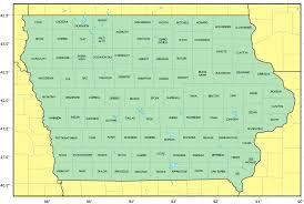 counties map of iowa • mapsofnet