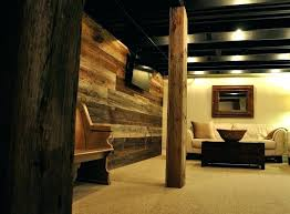Rustic Basement Wall Ideas Designs Court Finished Lower