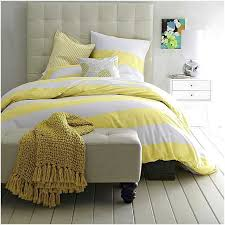 yellow striped duvet cover