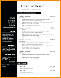 Free Resume Templates For Word Template Word Free To Format A Resume