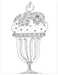 summer coloring pages for s ice cream sundae