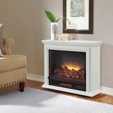 Pleasant Hearth GLF-5002-50 Sheridan Mobile Fireplace, White