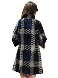 plus size check pattern fashion trench coat