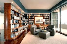 traditional home library design ideas contemporary blue walls home library with hardwood floors and elegant looking by and stein look for living room design