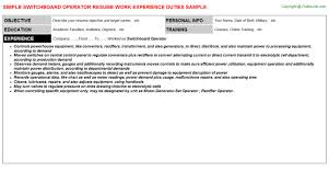 PBX Operator Resume Switchboard Operator Resume Sample