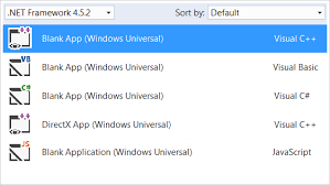 Windows Flatform Universal Windows Platform Visual Studio
