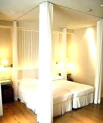 Black Bed Canopy Exotic Blackout Curtains For Frame Bedroom Sets ...
