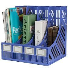 home office magazine. aliexpresscom buy 4 section divider file rack paper magazine holder multifunction storage hanger home office desktop book box plastic bookshelf from e