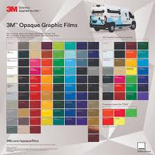 Vinyl Wrap Color Chart 18 Detailed Car Wrap Colors 3m