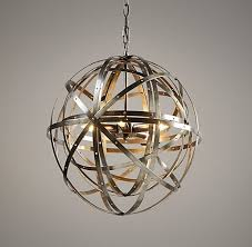 restoration hardware chandeliers at a