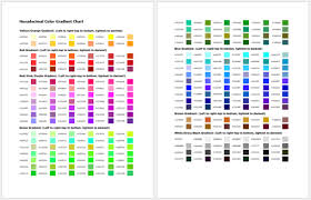 Two paint brush and color chart. General Color Chart 5 Printable Charts Word Pdf